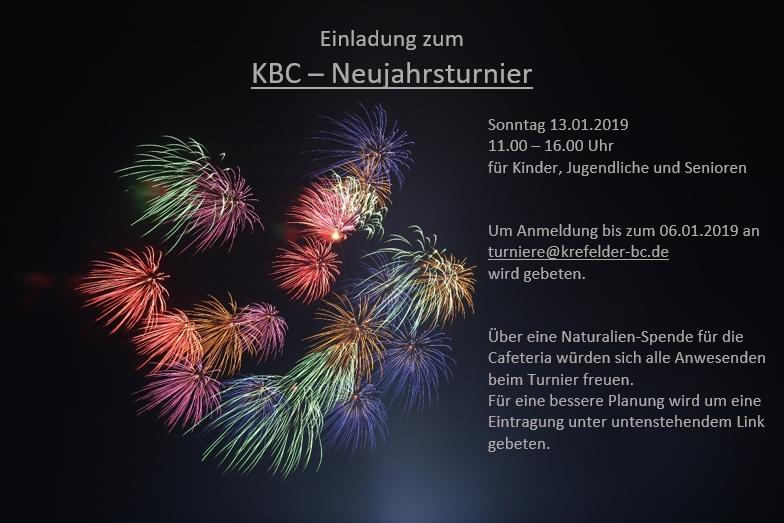 KBC Einladung Neujahrsturnier